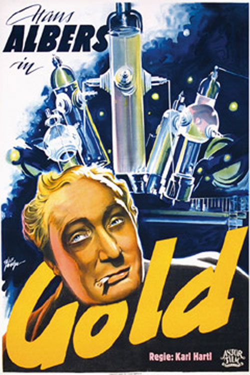 German poster from the movie Gold