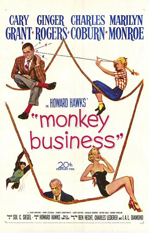 Us poster from the movie Monkey Business