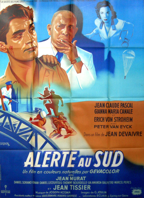 French poster from the movie Alerte au sud