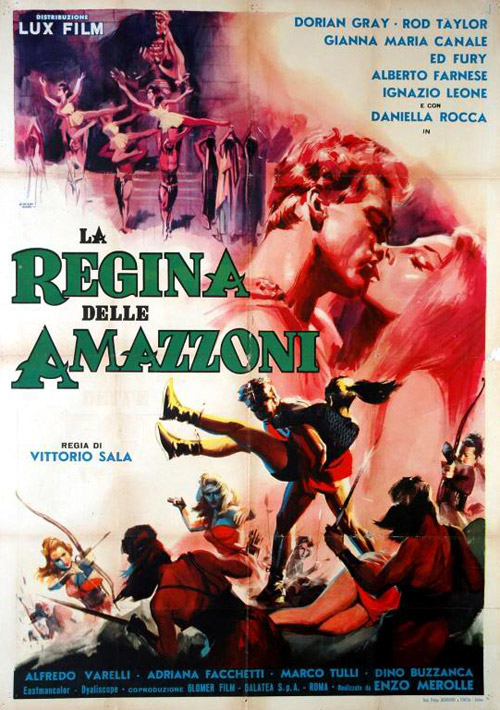 Italian poster from the movie Colossus and the Amazon Queen (La regina delle Amazzoni)
