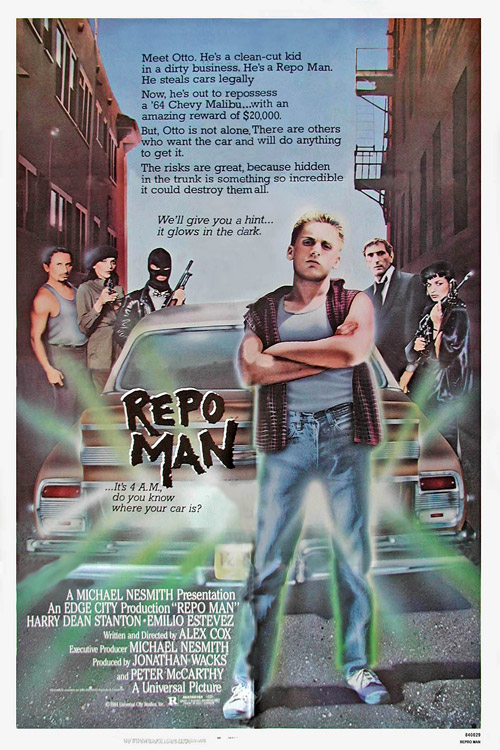 Us poster from the movie Repo Man