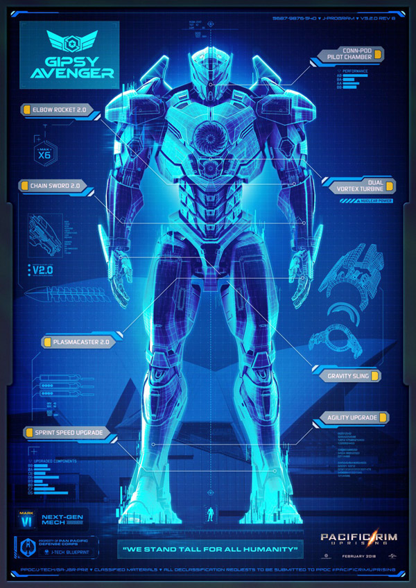 Us poster from the movie Pacific Rim: Uprising