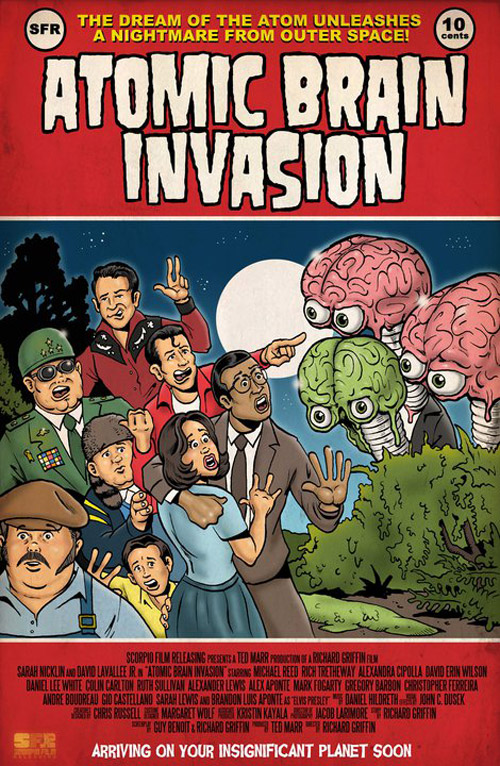 Affiche américaine de 'Atomic Brain Invasion'
