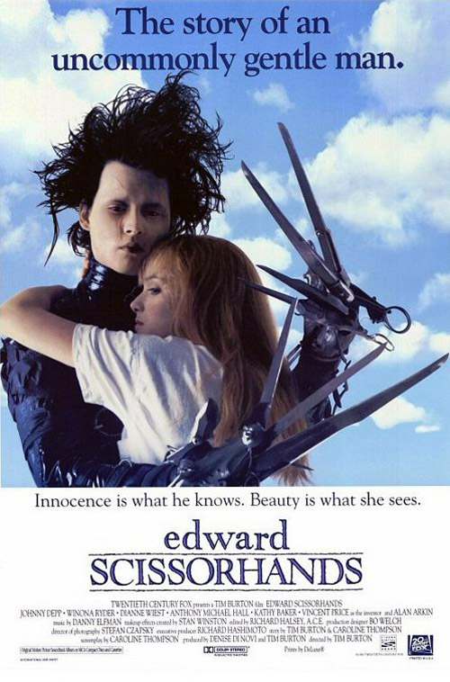 Us poster from the movie Edward Scissorhands