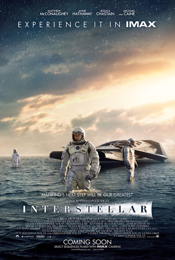 Affiche américaine de 'Interstellar'