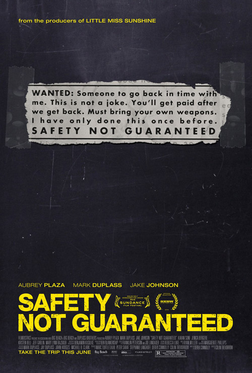 Us poster from the movie Safety Not Guaranteed