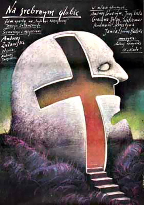 Polish poster from the movie The Silver Globe (Na srebrnym globie)
