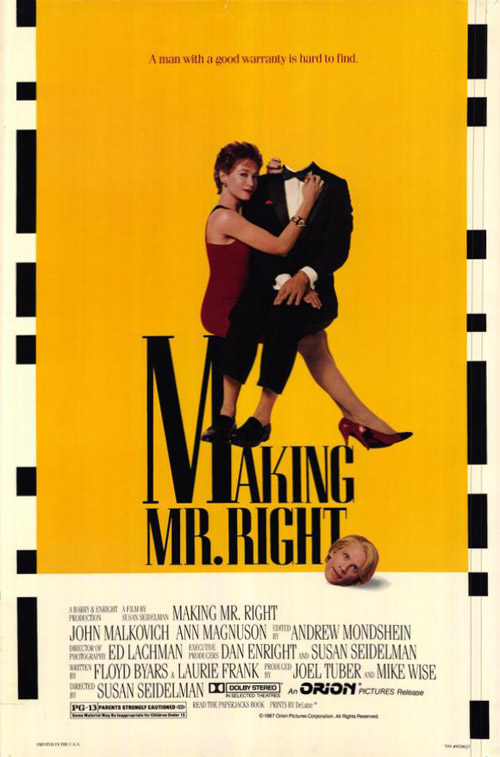 Us poster from the movie Making Mr. Right