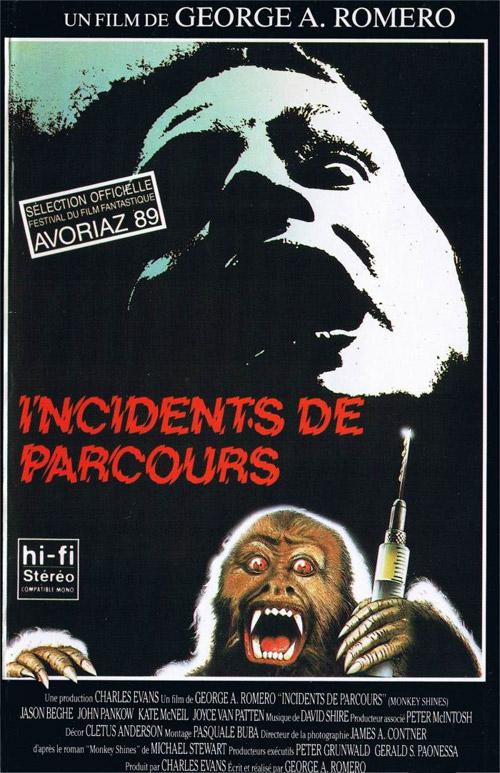 Deadlines - Cinéma - Page 8 Affiche-incidents-de-parcours-monkey-shines-1988-1