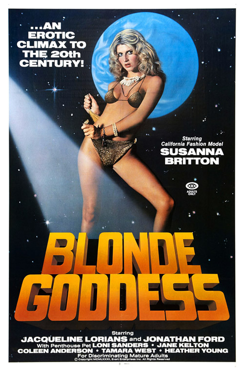 Us poster from the movie Blonde Goddess