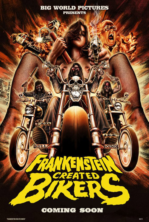 Us poster from the movie Frankenstein Created Bikers