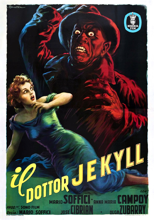 Italian poster from the movie The Strange Case of the Man and the Beast (El extraño caso del hombre y la bestia)