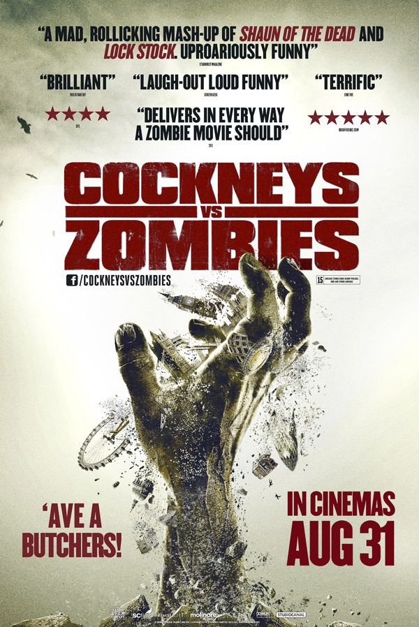 British poster from the movie Cockneys vs Zombies