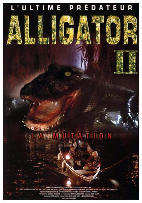 French poster from the movie Alligator II: The Mutation