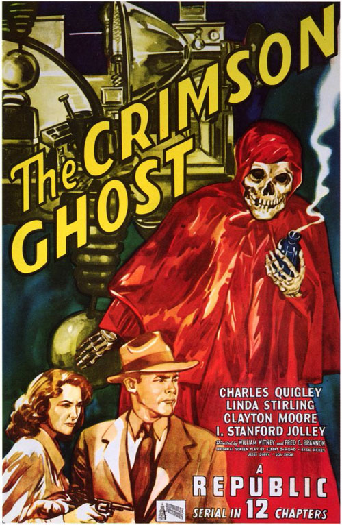 Affiche américaine de 'The Crimson Ghost'