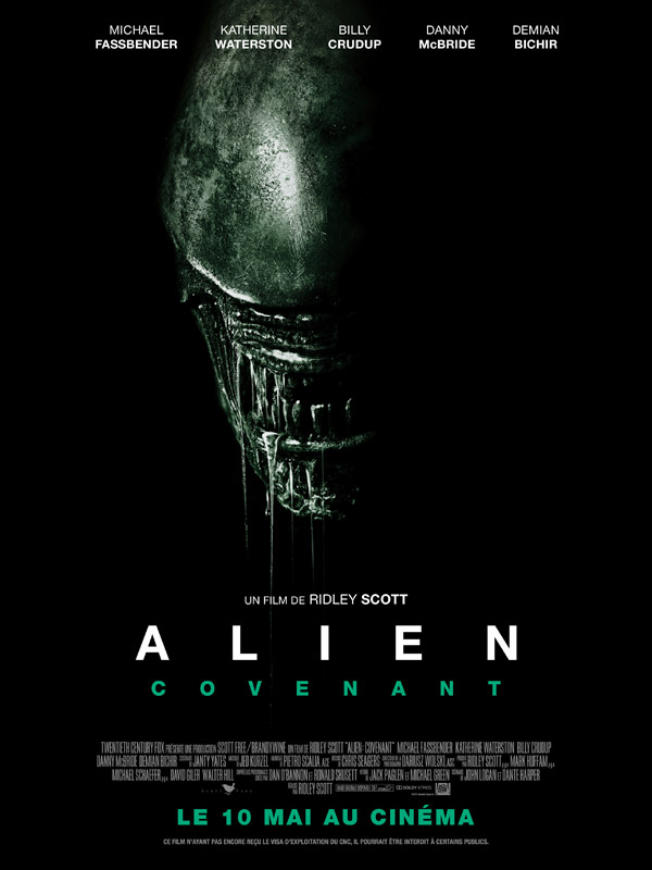 French poster from 'Alien: Covenant'
