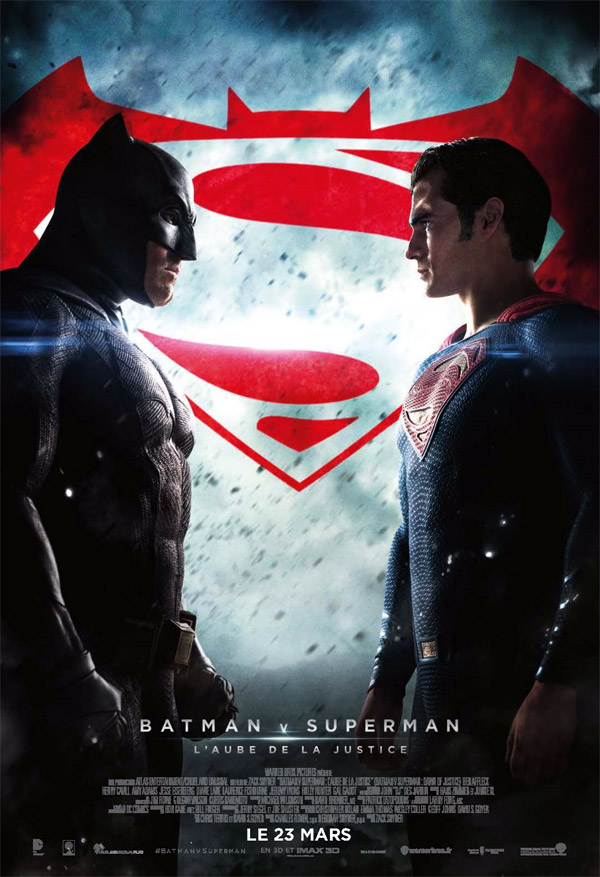 Affiche française du film Batman v Superman : l'aube de la justice (Batman v Superman: Dawn of Justice)
