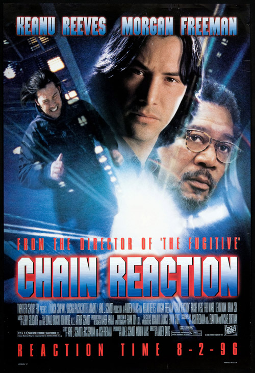 Us poster from the movie Chain Reaction