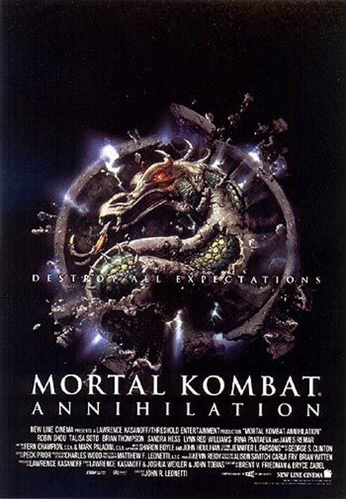 Affiche américaine de 'Mortal kombat, destruction finale'