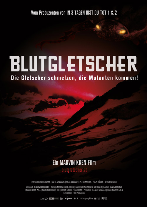 Austrian poster from the movie Blood Glacier (Blutgletscher)