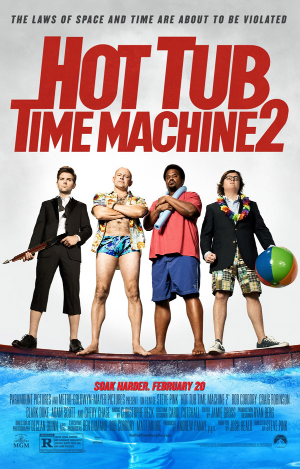 Affiche américaine de 'Hot Tub Time Machine 2'