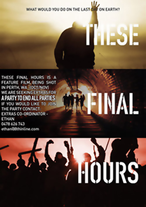 Australian poster from the movie These Final Hours