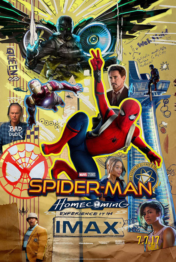 Affiche américaine de 'Spider-Man: Homecoming'