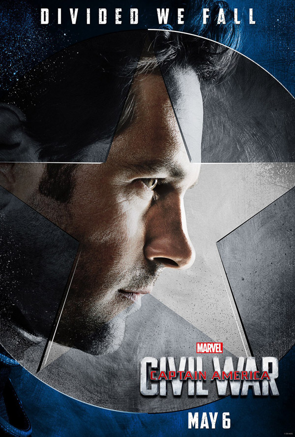 Affiche américaine de 'Captain America : Civil War'