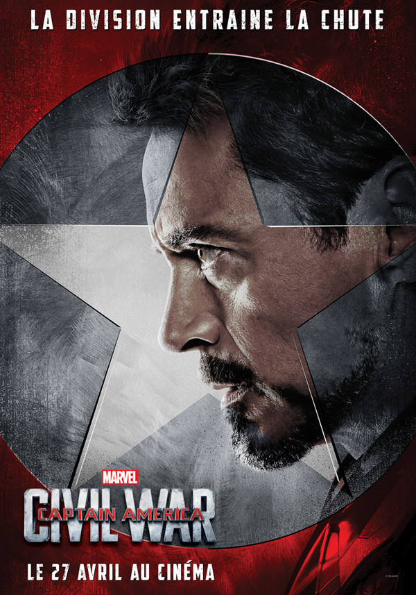 Affiche française de 'Captain America : Civil War'