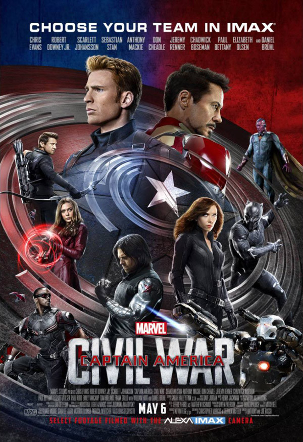 Us poster from the movie Captain America: Civil War