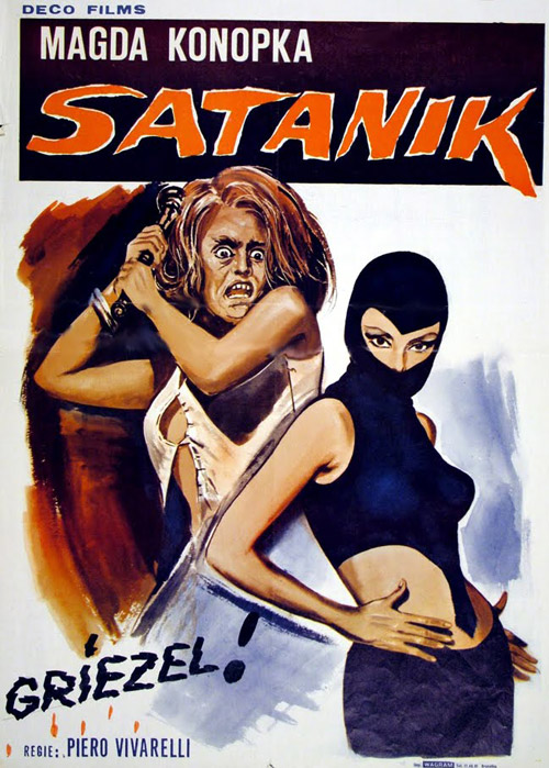 Italian poster from the movie Satanik