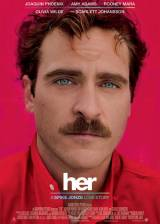 Movie poster from Her, in theaters on January 10, 2014