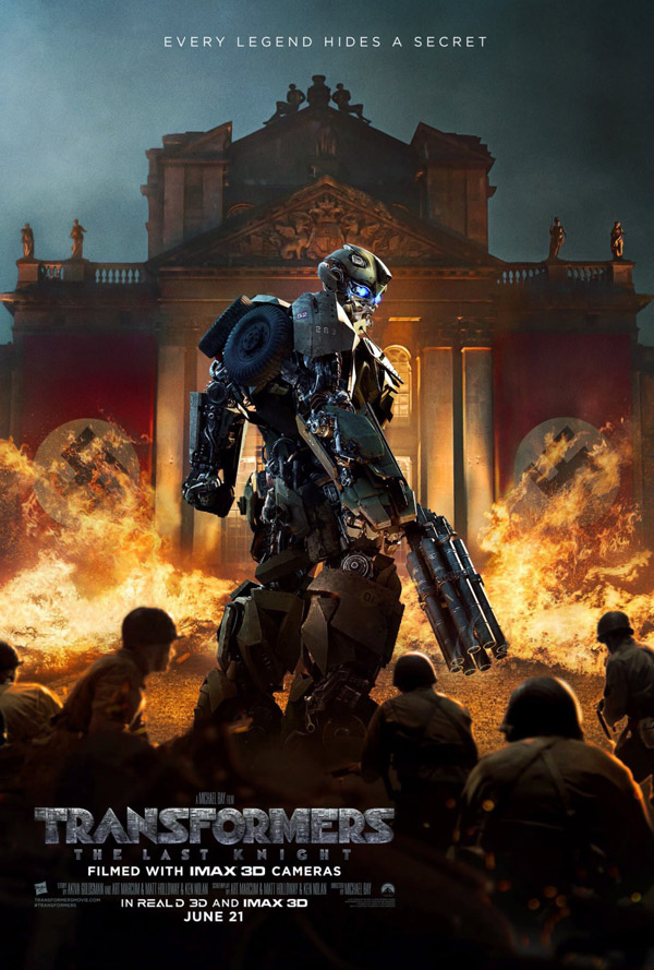 Affiche américaine de 'Transformers: The Last Knight'