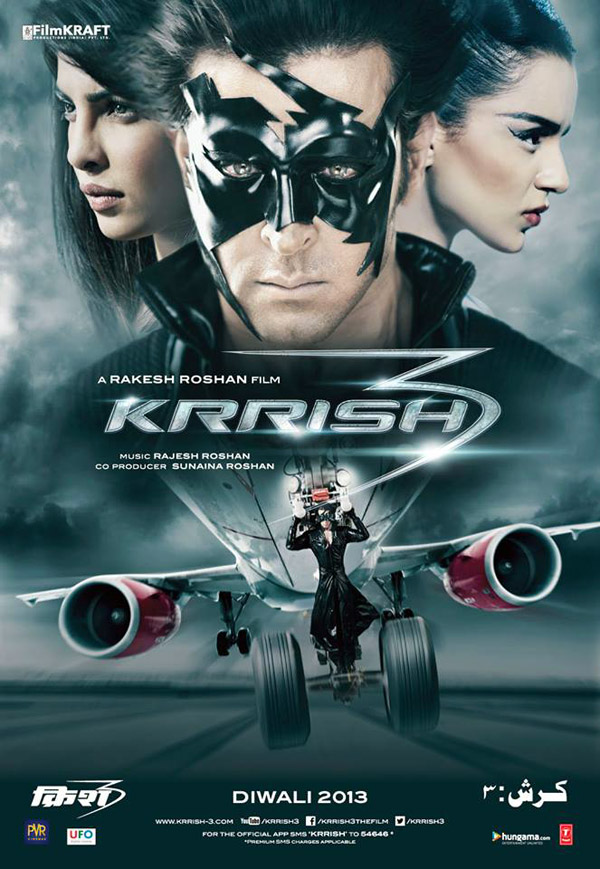 Indian poster from the movie Krrish 3