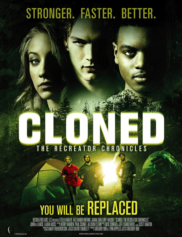 Us poster from the movie CLONED: The Recreator Chronicles