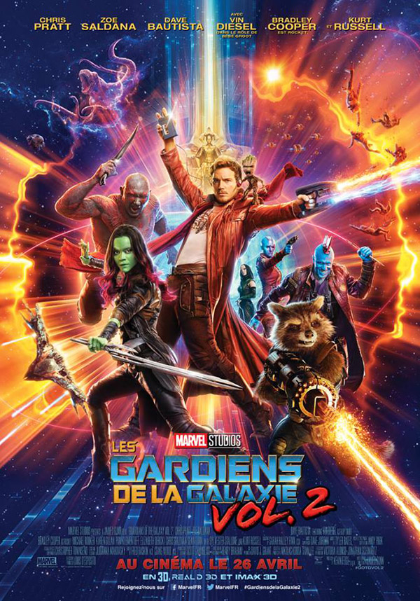 Affiche française du film Les Gardiens de la galaxie Vol. 2 (Guardians of the Galaxy Vol. 2)