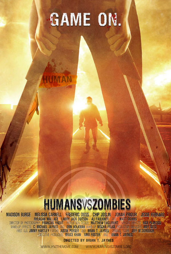Affiche américaine de 'Humans Versus Zombies'