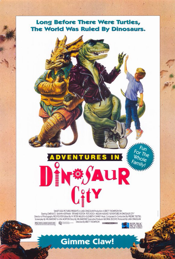 Us poster from the movie Adventures in Dinosaur City
