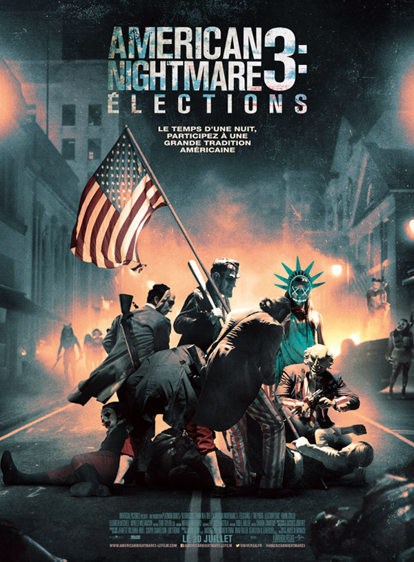 Affiche française du film American Nightmare 3 : Elections (The Purge: Election Year)