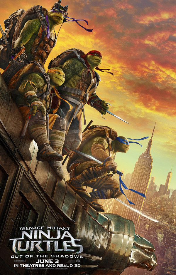 Us poster from the movie Teenage Mutant Ninja Turtles: Out of the Shadows