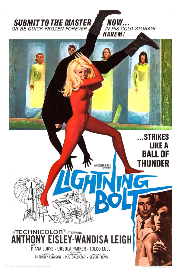 Us poster from the movie Lightning Bolt (Operazione Goldman)