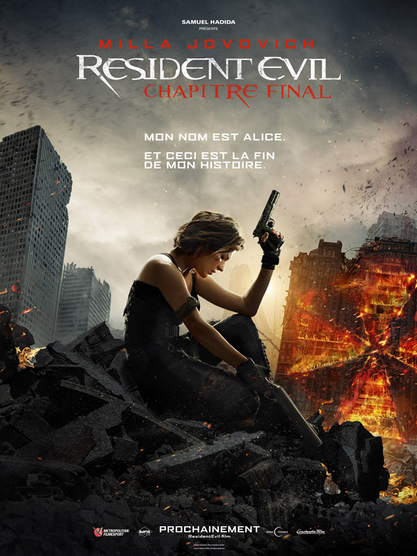French poster from 'Resident Evil: The Final Chapter'