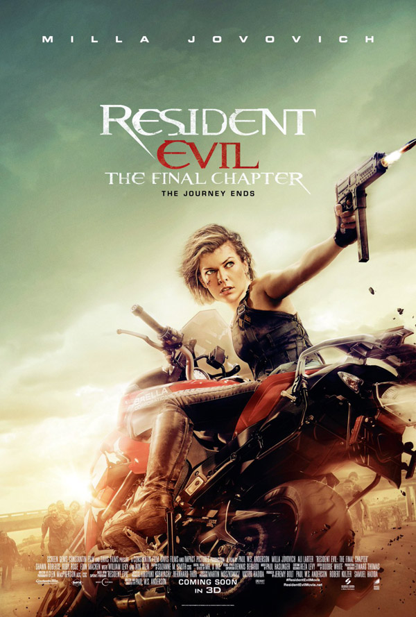 Us poster from the movie Resident Evil: The Final Chapter