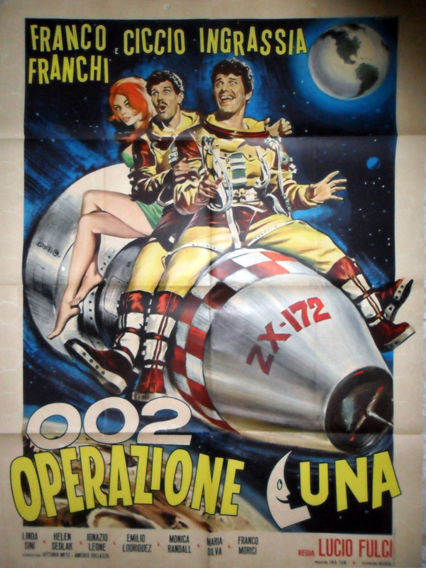 Italian poster from the movie 002 Operation Moon (002 operazione Luna)