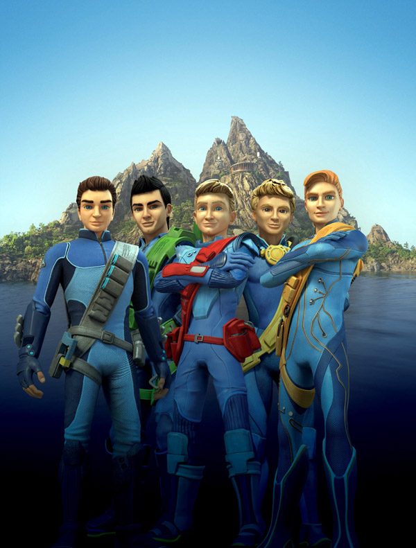 British artwork from the series Thunderbirds Are Go!