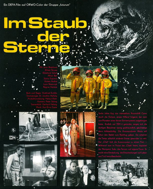 German poster from the movie In the Dust of the Stars (Im Staub der Sterne)