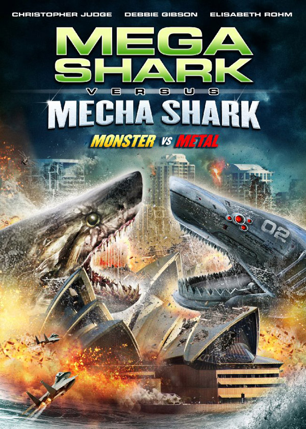 Affiche américaine de 'Mega Shark vs. Mecha Shark'
