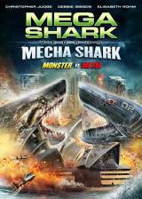 Movie poster from Mega Shark vs. Mecha Shark, in theaters on January 28, 2014
