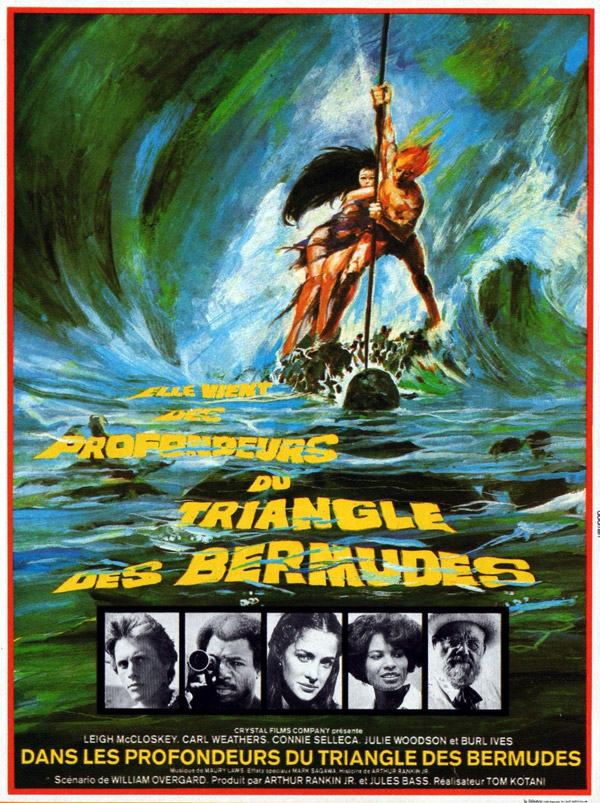 French poster from the TV movie The Bermuda Depths