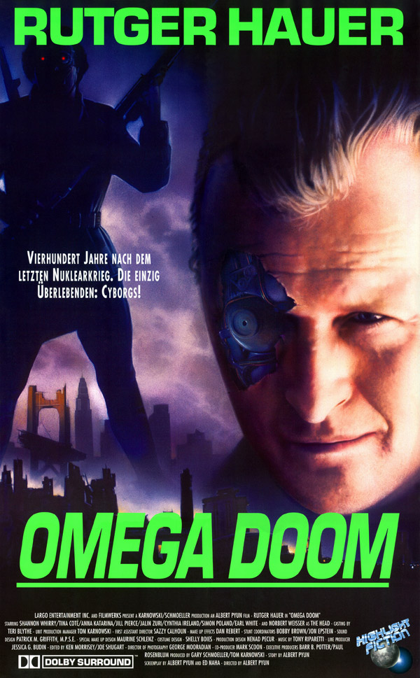 German poster from the movie Omega Doom